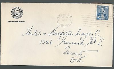 Canada Cover 1955 Newmarket Pickering College Envelope Mailed