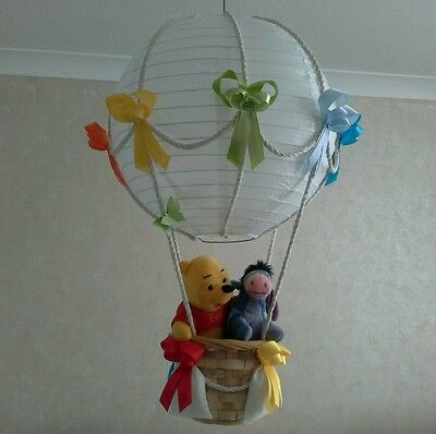 Winnie the Pooh and the gang  Hot Air Balloon light lamp  shade    Made To Order