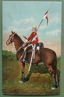 Military Art Postcard - Trooper 2Nd Dragoon Guards (Queen's Bays) Marching Order
