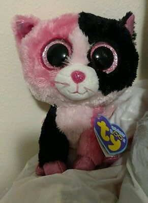 "2013 New Ty Beanie Boo Boos Dazzle colorblock cat 6"" Justice Exclusive"