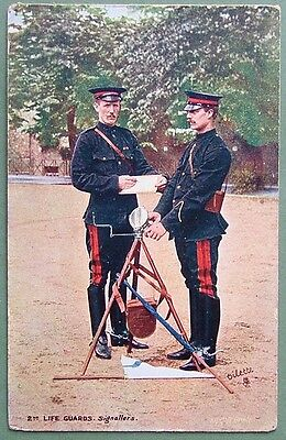 Oilette Postcard - 2Nd Life Guards, Signallers