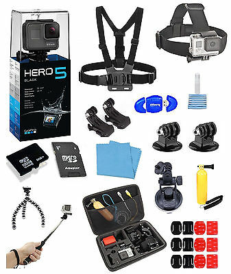 GoPro HERO5 Black + 16 Piece PRO all in one Bundle  *BRAND NEW*