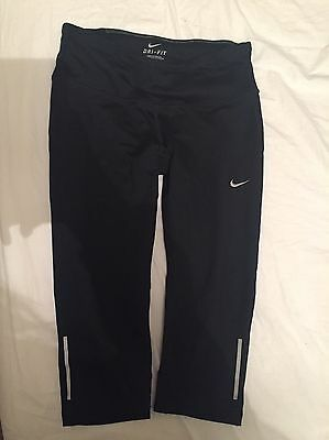 Nike DRI-FIT Women's Black Running/fitness Leggings, Size XS (6-8)