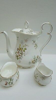 Royal Albert Made In England  Haworth China Coffee Pot With Milk Jar And Sugar
