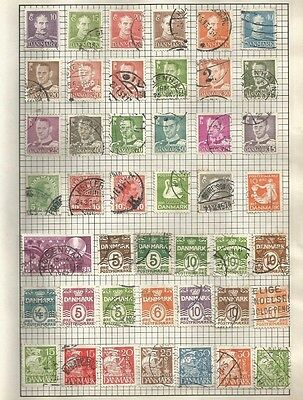 Pages Of Denmark Stamps