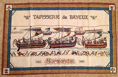 Cotton Teatowel Bayeux Tapestry Josellr Franco Bnwot New