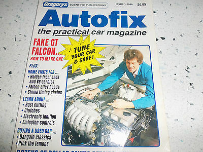 "Autofix Car magazine Issue 1 1988 by""Gregorys"""