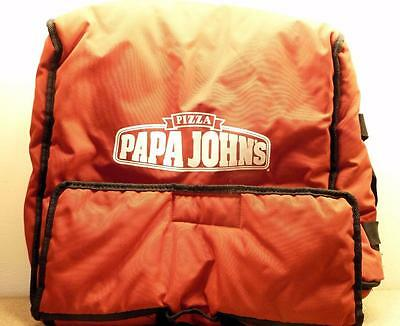 Papa Johns Pizza Insulated Hot Pizza Delivery Large Bag Red