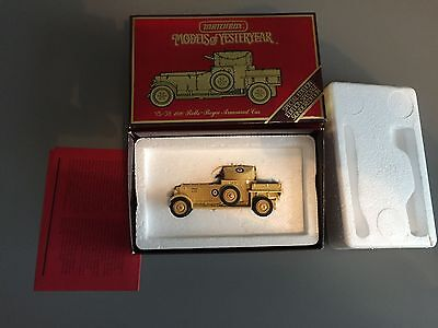 Matchbox Models of Yesteryear RR Armoured Car 1920 boxed near played with