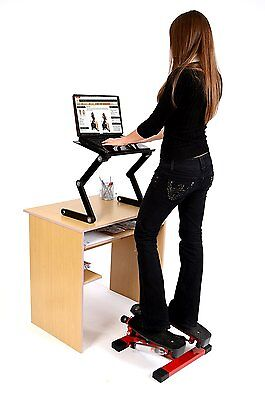Office Fitness Twist Stepper with Bungee Cords Black/Red Mini Twist Stepper