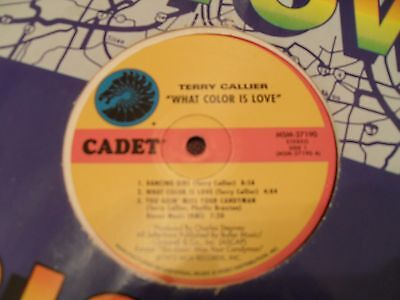 """Terry Callier - What Color Is Love - 1972 12"""" LP Cadet Records"""