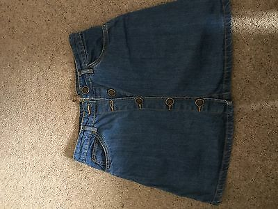 Primark High Waisted Demim Skirt 70s Style Size 8 10 S
