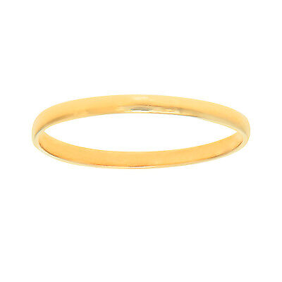 10K Real Yellow Gold Shiny Baby Infant Round Children Ring Sz 2
