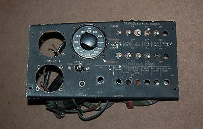 RAF RN AIRCRAFT EE CANBERRA B (i) 8 PILOTS INSTRUMENT CONTROL PANEL FUEL SYSTEM