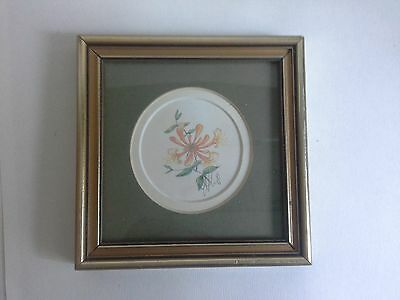 small gold print of honeysuckle by Joanna Lant