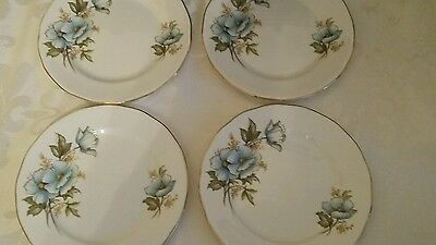 Vintage Queen Anne side plates set of 4
