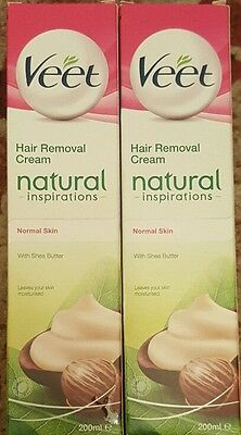 2xVeet Hair Removal Cream Natural Inspiration Normal Skin With Shea Butter 200ml