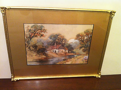 Study of a cottage original signed Watercolour by E Leigh - Lancashire?