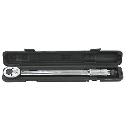 "Torque Wrench 1/2"" inch Drive 10-150 ft/lb 18"" Long Click-Type Hand Tool w/ Case"
