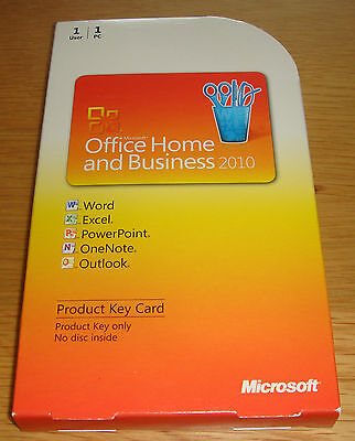 Genuine Microsoft Office 2010 Home and Business - Full Version For Windows