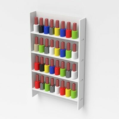 Wall Mounted Acrylic Nail Polish Display Stand Varnish Shop Retail 40 Bottles