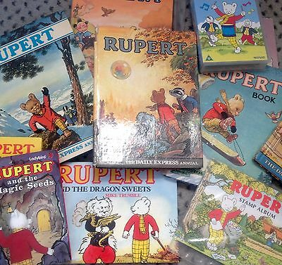Collection Of Rupert Bear Books