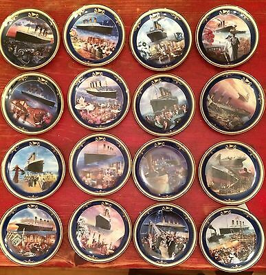 Bradford Exchange Complete Set Titanic Queen of the Ocean Plates 1st -16th Issue