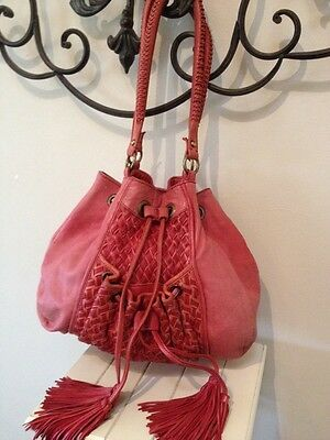 Witchery Red Tassel Leather Bag