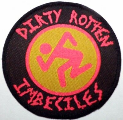 DRI DIRTY ROTTEN IMBECILES Original Vintage Woven Sew On Patch Unused D.R.I.