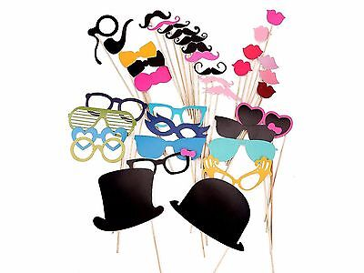 36 Party Props Photo Booth Moustache Birthday Engagement Wedding Funny B36002