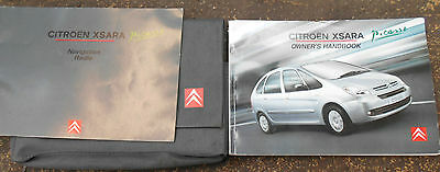 2005 On Citroen Xsara Picasso Owners Handbook & Audio Guide In Wallet