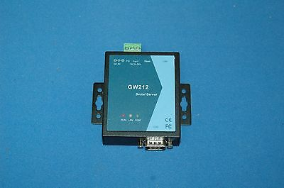 GW212 Serial Server 1 Port RS-232 Serial to IP Ethernet Device Server No charger