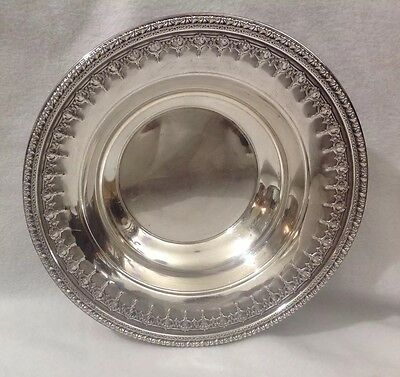 Reed & Barton 1202 Silverplate Candy Nut Dish Bowl Ornate Design