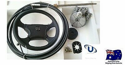 NEW  4.57m~15FT UNIVERSAL BOAT STEERING WHEEL SYSTEM QUICK CONNECT STEERING KIT