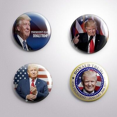 4 DONALD TRUMP 45 th PRESIDENT -  Button / Badge / Pin  25mm 1""