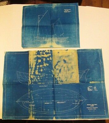 "Boat Plans Blueprints ""Nomans Land Boat"" Signed 2 Sheets"