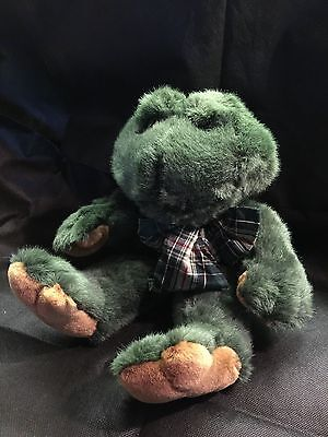 "Boyds Bears Racheal Q Ribbit 16"" Plush Frog with sound. Rare in UK"