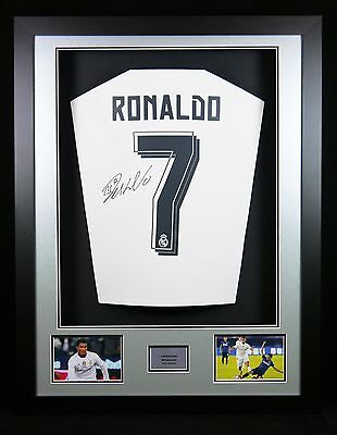Cristiano Ronaldo Signed Real Madrid Shirt 3D Frame with COA