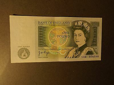 A £1 Bank Note J B Page Crisp But Used