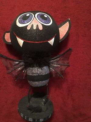 """Katherine'S Collection Retired 13"""" Bat  Trick Or Treat Container  Bowl"""