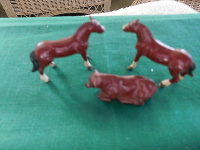 Four Cast Iron Animals all signed