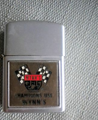 VINTAGE 1950's WYNN'S FRICTION PROOFING ADVERTISING LIGHTER JAPAN USED COOL!!
