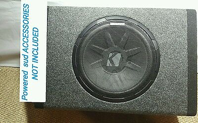 kicker 11pt10 loaded single 10 subwoofer enclosure box 90 1 kicker pt250 10 subwoofer built in 100w amplifier