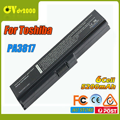 6Cell Battery For Toshiba Satellite PA3817U-1BRS PABAS228 L775 L750 L750D Laptop