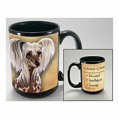 Chinese Crested Faithful Friends Dog Breed 15oz Coffee Mug Cup
