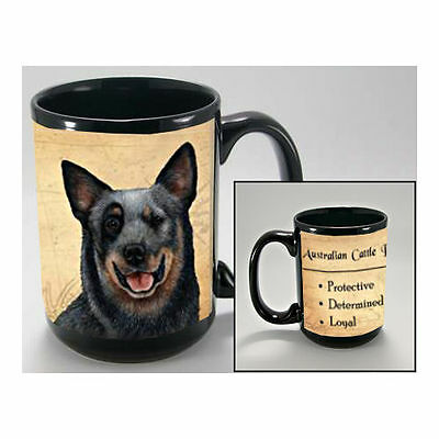 Australian Cattle Dog Faithful Friends Dog Breed 15oz Coffee Mug Cup