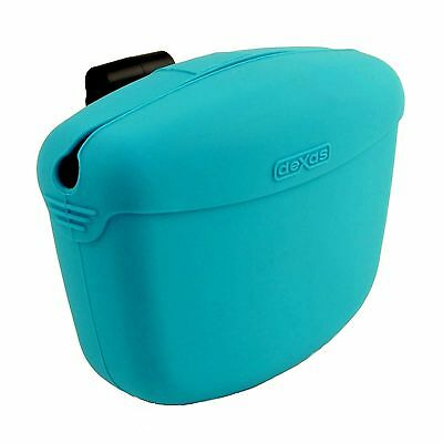 DEXAS Popware POOCH POUCH Clip-on TREAT Holder Dog Obedience Training Bag - Blue