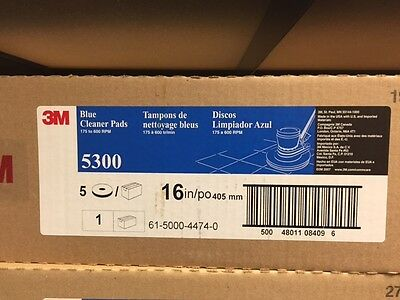 "3M 16"" Blue Cleaner Pad 5300"
