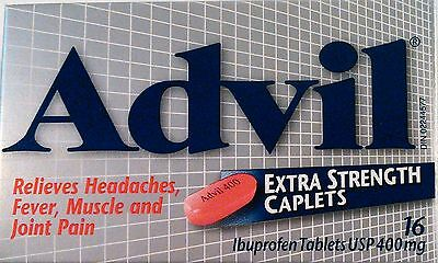 Advil (Silver) Relieves Headaches, Fever, Muscle Pain and Joint Pain 16 Caplets