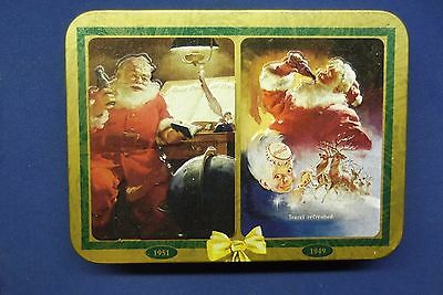 2 Sets Nostalgia Coca-Cola Playing Cards in Santa Clause Christmas Tin 1997